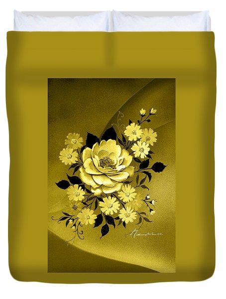 Sepia Bouquet Duvet Cover