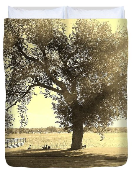 Sepia Colors In A Tree Duvet Cover
