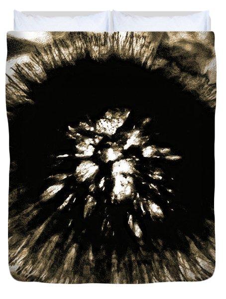 Sepia Dandelion Duvet Cover