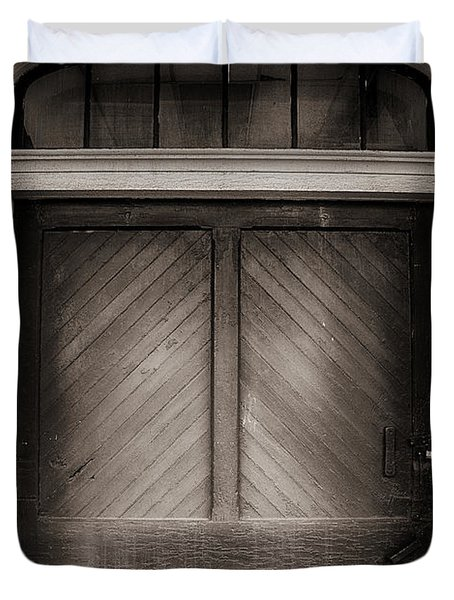 Sepia Doorway Duvet Cover