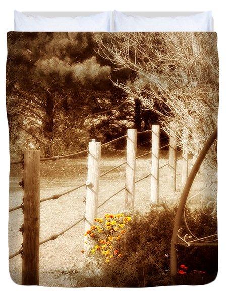 Sepia Garden Duvet Cover by Julie Hamilton