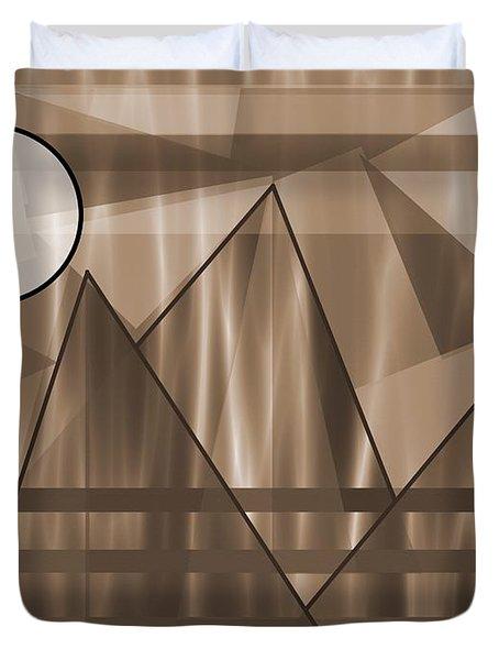 Sepia Landscape Duvet Cover