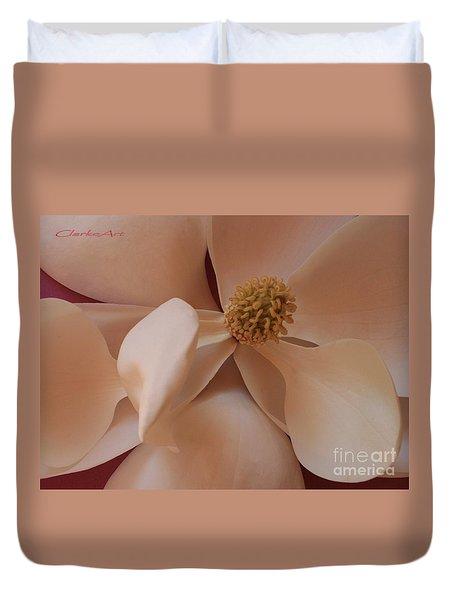 Sepia Magnolia Macro Duvet Cover
