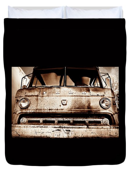 Sepia - Old Ford Trucks Never Die Duvet Cover