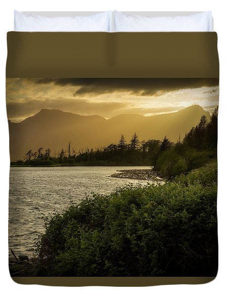 Sepia Sunset Duvet Cover