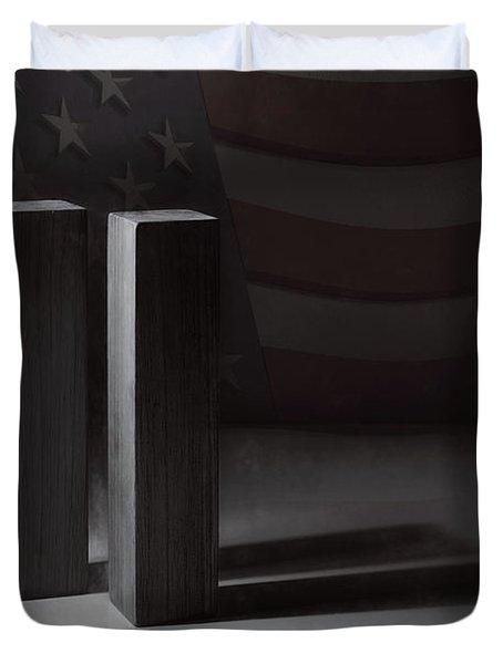 September 11, 2001 -  Never Forget Duvet Cover