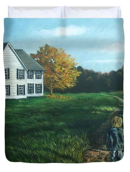 September Breeze Number 4 Duvet Cover