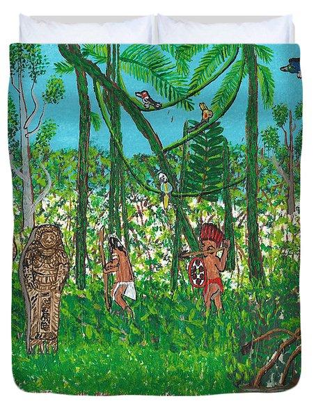 September   Hunters In The Jungle Duvet Cover