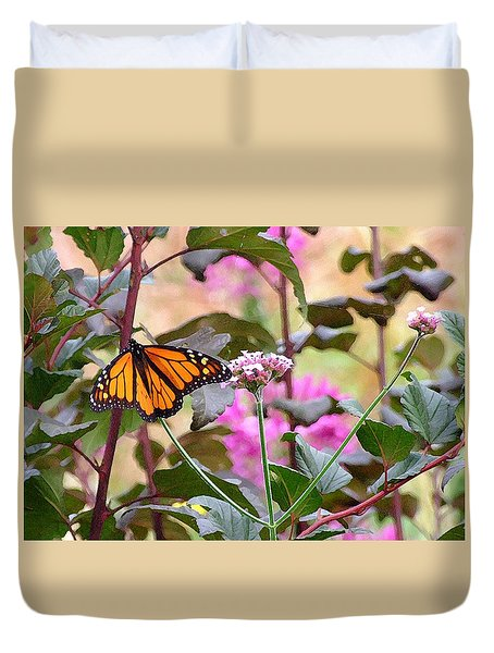 September Monarch Duvet Cover