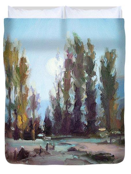 September Moon Duvet Cover