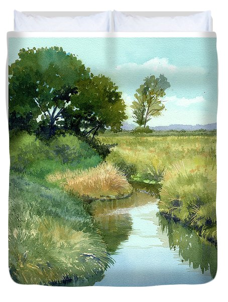September Morning, Allen Creek Duvet Cover