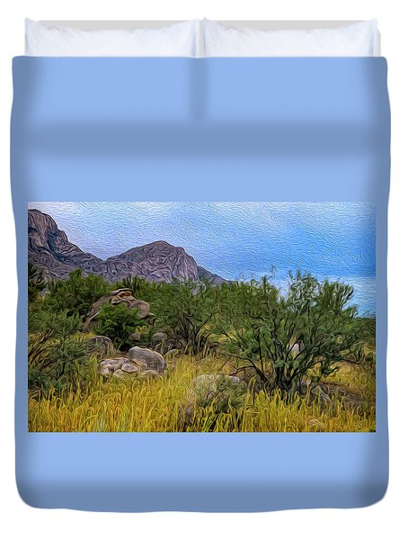 Duvet Cover featuring the photograph September Oasis No.2 by Mark Myhaver