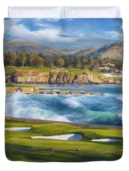 September On The 18th, The 18th Hole At Pebble Beach Golf Links ...
