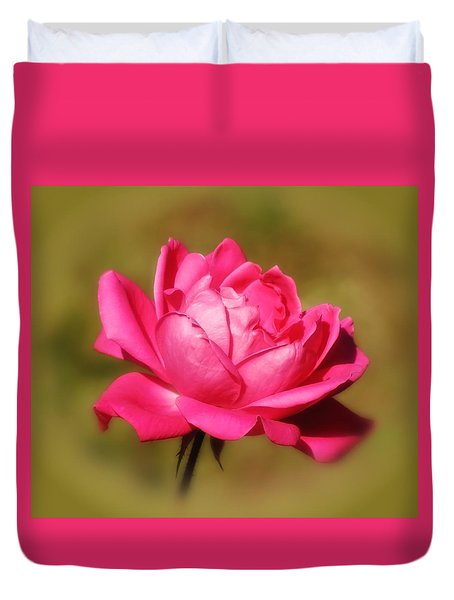 September Rose Up Close Duvet Cover by MTBobbins Photography