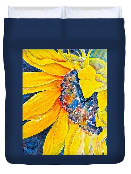 September Sunflower Duvet Cover by Carolyn Rosenberger