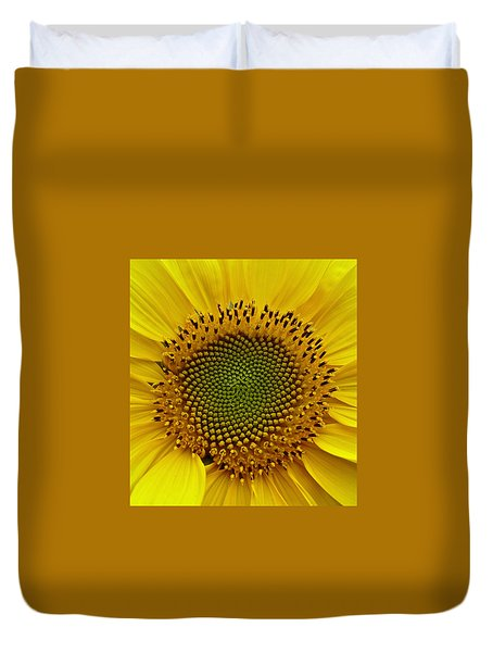 Duvet Cover featuring the photograph September Sunflower by Richard Cummings