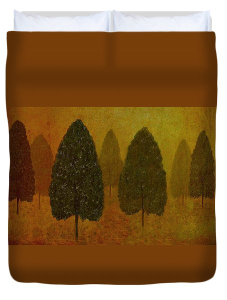September Trees  Duvet Cover by David Dehner