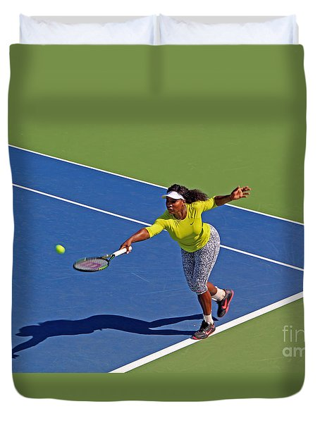 Serena Williams 1 Duvet Cover by Nishanth Gopinathan