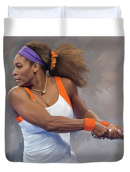 Serena Williams Artwork Duvet Cover