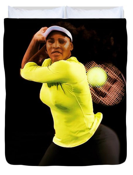 Serena Williams Bamm Duvet Cover by Brian Reaves