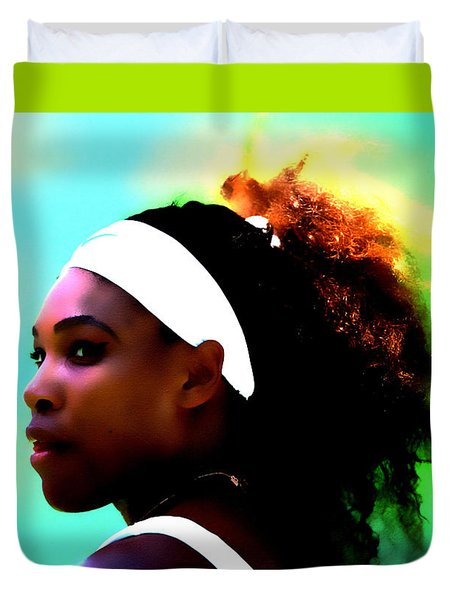 Serena Williams Deep Focus Duvet Cover by Brian Reaves