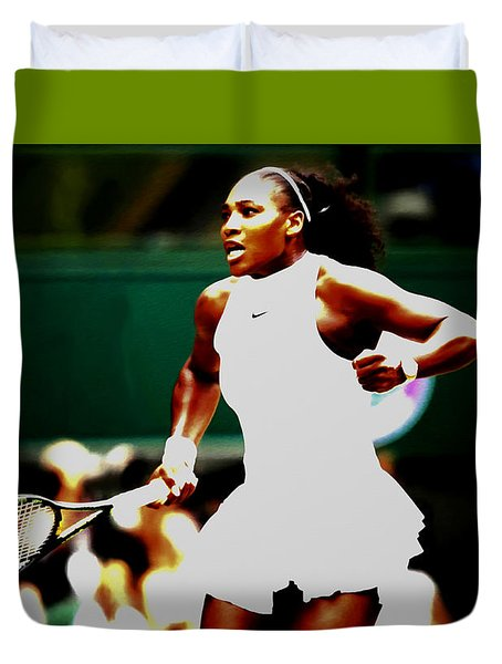 Serena Williams Making History Duvet Cover