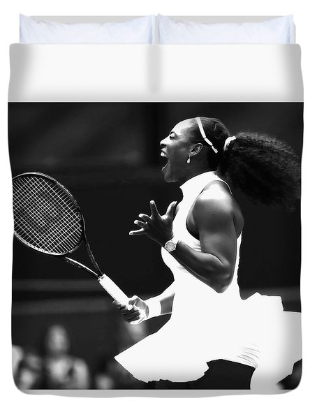 Serena Williams Making Magic Happen Duvet Cover