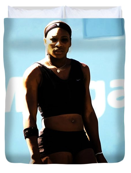 Serena Williams Match Point IIi Duvet Cover by Brian Reaves