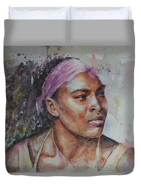 Serena Williams - Portrait 6 Duvet Cover