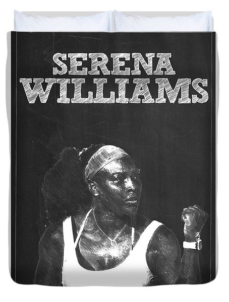Serena Williams Duvet Cover by Semih Yurdabak