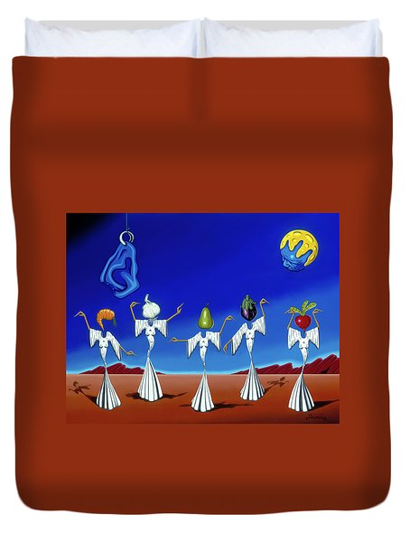 Serenade Of The Sisters Duvet Cover