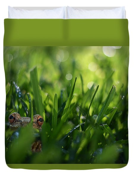 Duvet Cover featuring the photograph Serendipity by Laura Fasulo