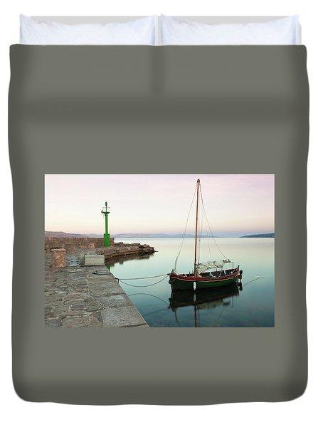 Duvet Cover featuring the photograph Serene Awakening by Davor Zerjav