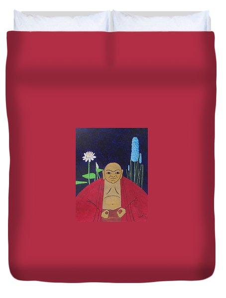 Serene Buddha Duvet Cover