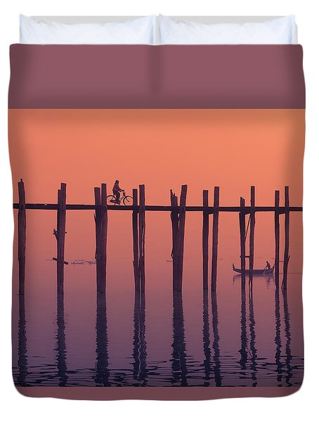Serene Dawn Duvet Cover by Marji Lang