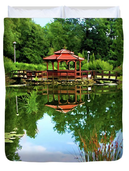 Serene Garden Duvet Cover