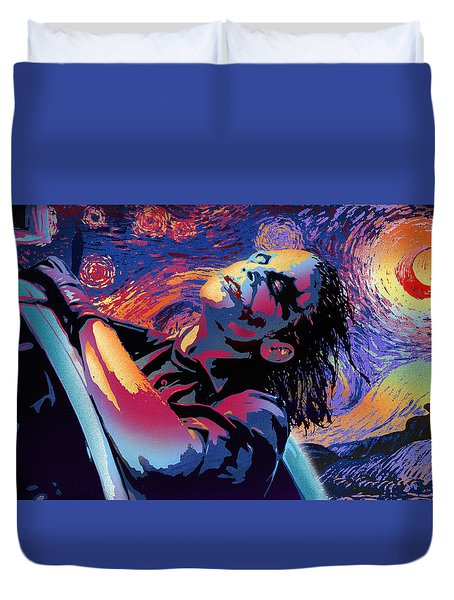 Serene Starry Night Duvet Cover by Surj LA