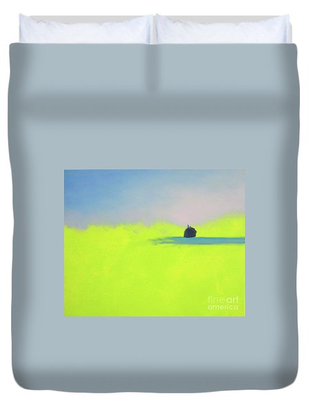 Duvet Cover featuring the painting Serene by Jeanette French