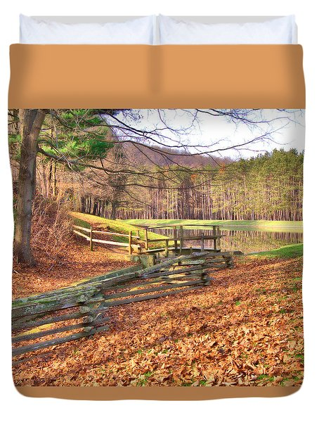 Duvet Cover featuring the photograph Serene Lake by Gordon Elwell