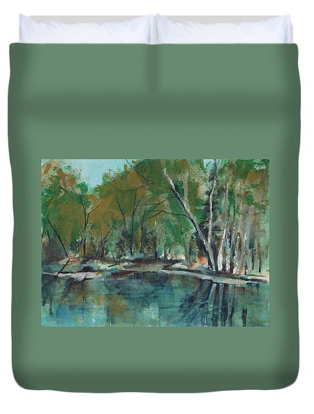 Serene Duvet Cover by Lee Beuther