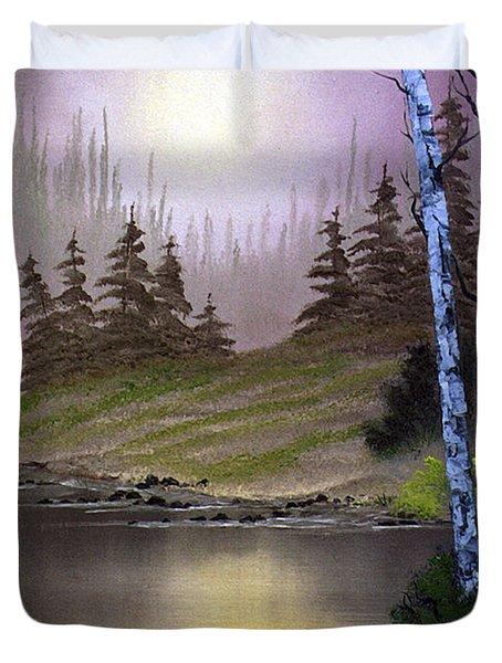 Serene Nightscape Duvet Cover