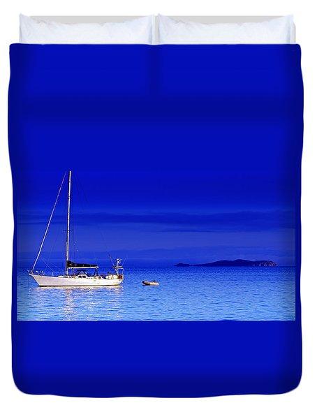 Serene Seas Duvet Cover by Holly Kempe