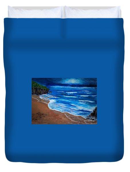 Serene Seashore Duvet Cover