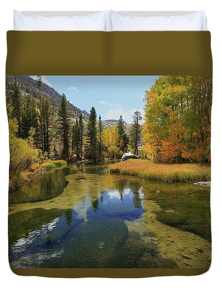 Serene Stream Duvet Cover