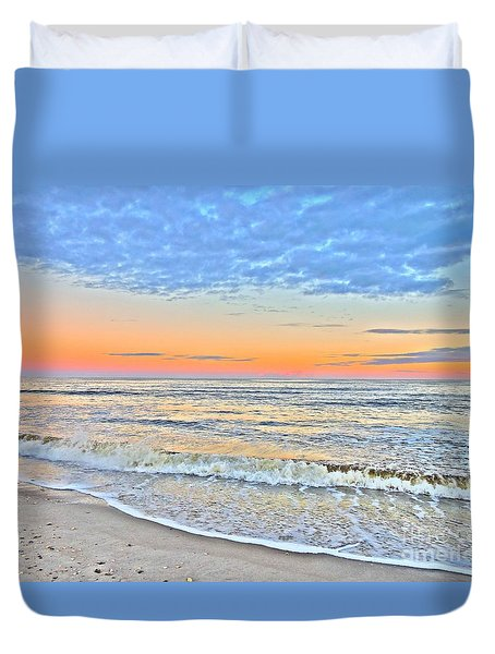 Duvet Cover featuring the photograph Serene Sunset by Shelia Kempf