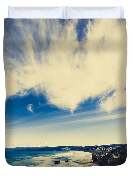 Serene Victoria Coastline Duvet Cover