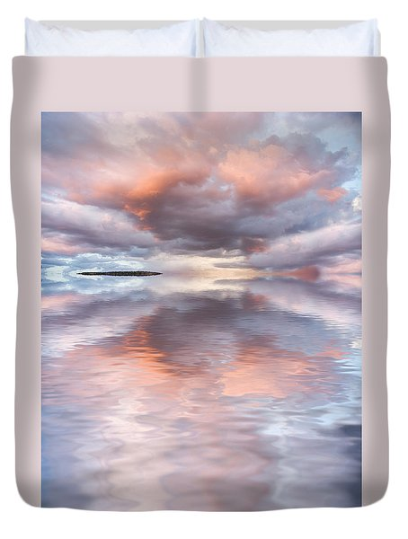 Serenity And Peace Duvet Cover by Jerry McElroy