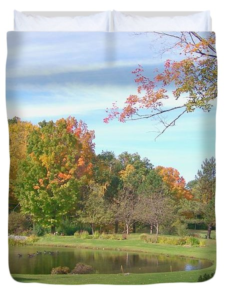 Duvet Cover featuring the digital art Serenity by Barbara S Nickerson