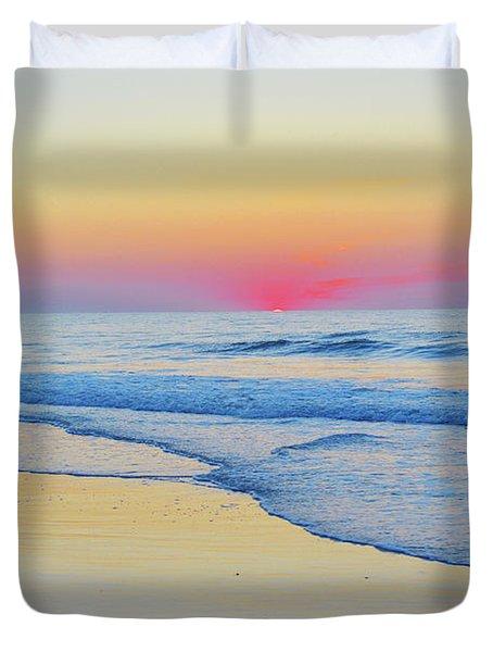 Serenity Beach Sunrise Duvet Cover