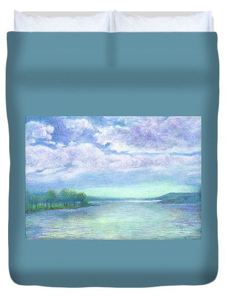 Serenity Blue Lake Duvet Cover